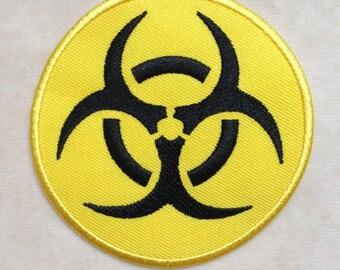 Biohazard Radiation Dangerous Sign Iron On Patch