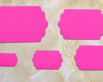 Set of 5 labels scrapbooking cutting