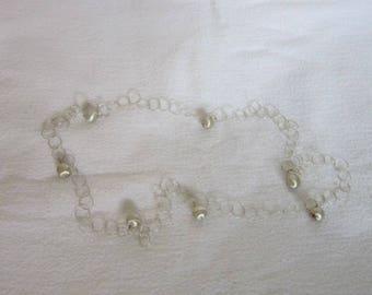 Vintage Silver Circle Links & Balls Necklace