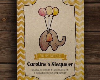 Elephant Party Invitation