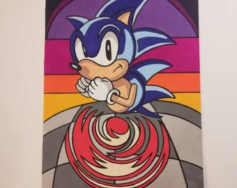 Sonic The Hedgehog Special Stage A4 Print