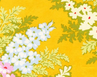 Nicey Jane Picnic Bouquet in Tangerine by Heather Bailey for Free Spirit by the half yard