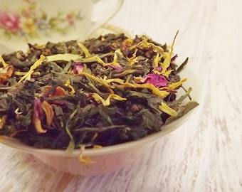 Rose Cottage Tea, Oolong Tea, Green Tea, Loose Leaf Tea, Rose Tea