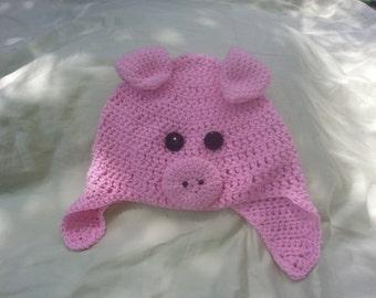 Pink Pig Hat   Adult/Teen