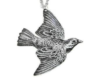 BIRD Large Pendant Necklace (As seen in Minnesota Monthly magazine) Gifts for her