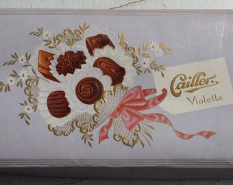 Chocolate Box Caillerz 50s 60s 50s 60s 70s vintage antique Giftbox
