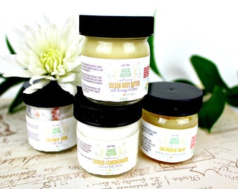 Body Butter Sample - Your Choose Scent, Essential Oils, Dry Skin, Sensitive Skin, Hands, Baby Bottom, Elbows, Knees, Heels, Feet, Lips