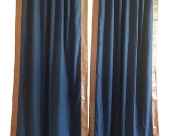 "Pair of 50"" x 94"" back tab Bentley Club Drapes - lined"