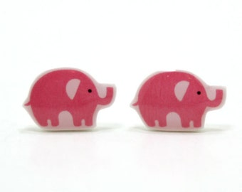 Small Elephant Earrings | Sterling Silver Posts Studs | Gifts For Her