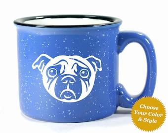 Pug Dog Mug - Choose Your Cup Color