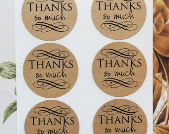 Stickers Thanks So Much Envelope Seals Weddings Party Favor Treat Bag Stickers SP024