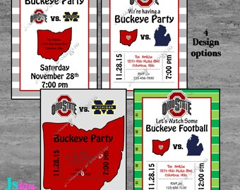 Ohio State Michigan Invitation; Ohio State Michigan Invite; OSU Invitation; Buckeyes; Football; OSU; Ohio State; Ohio State Invitation; baby