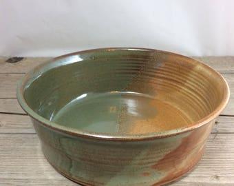 Pottery casserole dish, ceramic casserole, stoneware casserole, fruit bowl, salad bowl, dinnerware, candy dish