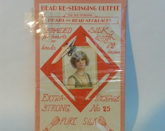 Vintage Bead re-stringing outfit