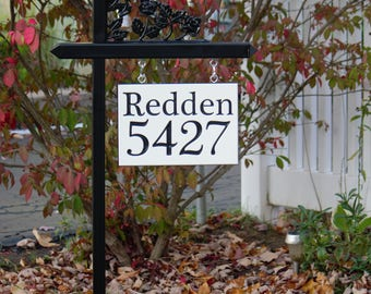 Custom 4 number engraved sign, two sided option available