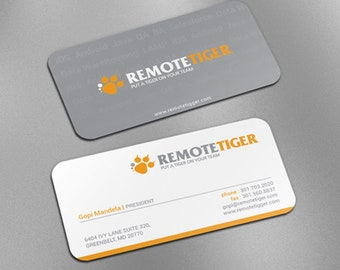 """250 slim tags/business cards - 3.5""""X1.75"""" special mini size - 14PT 16PT glossy or matte -  commercially custom printed"""