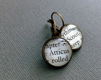 To Kill A Mockingbird Earrings, Book Jewellery, Banned Books Gift, Book Lover