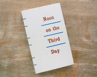 Large Journal, 1962 Vintage Noon On The Third Day, Ready to Ship