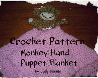 Crochet Pattern - Monkey Hand Puppet Blanket
