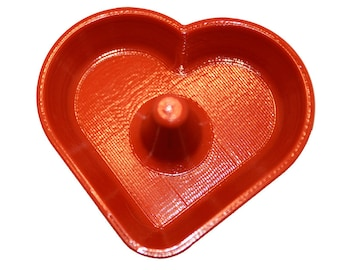 3D Printed heart shaped Jewelry Dish