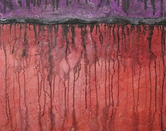 Large Abstract Acrylic Painting Textured Painting Black Painting Red Painting Purple Painting Modern Art Contemporary Art