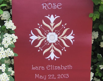 Communion Banner Embroidered CUSTOM to your requirements Personalized Name Date etc