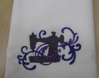 Filigree Sewing Machine Towel - EXTRA STOCK