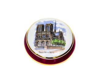 Limoges Porcelain Keepsake Box of Notre Dame Paris