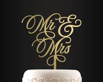 Wedding Cake Topper, Mr and Mrs, Personalized Cake Topper, Custom Cake Topper, Cake Topper, Unique Cake Decor, Cake Decoration
