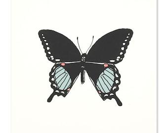 Neon Swallowtail Butterfly Art Print