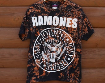 Bleached Band Shirt The Ramones Tee Large