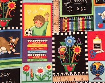 "Home & Living, Teacher, Classroom, Day Care, School, ABC, Children, Crayons, Clock, Valance, Curtain, Window Treatment, 15""-42"", Patchwork"