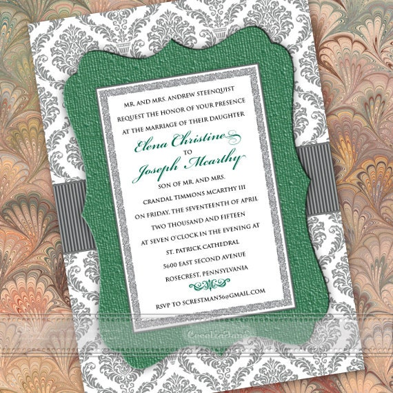 wedding invitations, wedding package, green wedding invitations, wedding invitations and rsvp, bridal shower invitations, IN376