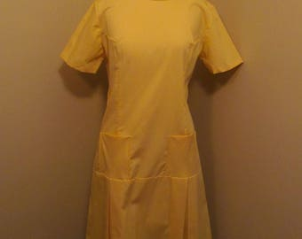 Vintage 1960s mustard  Mod moto/ scooter dress