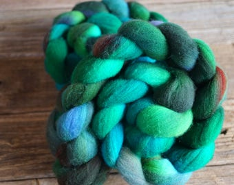 Merino Combed Top, Spinning Fiber, Hand Dyed