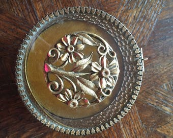 Round Footed Brass Jewelry/Trinket Box