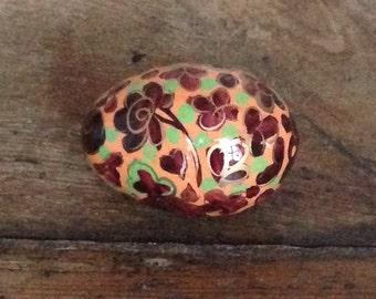 Decorative wooden egg