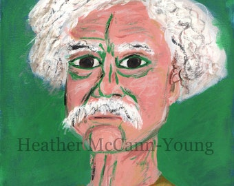 Mark Twain Study Original Acrylic on Canvas Painting