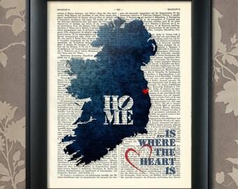 Ireland Art Print, Ireland Print, Ireland Map Art, Ireland Wall Art, Ireland Pride, Ireland Map Print, Ireland Map, Map of Ireland, Eire