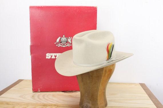 Vintage - Stetson - Rancher - 4 X Beaver Felt - WISP - Silver Belly - Men's 6 3/4 - Small - W/ Box - Cowboy Hat - Western Wear