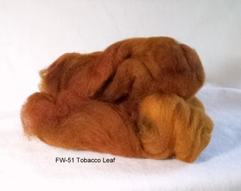 Felting Wool: FW-51 Tobacco Leaf