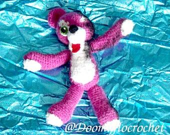 Breaking Bad Pink Teddy Bear plush crochet style