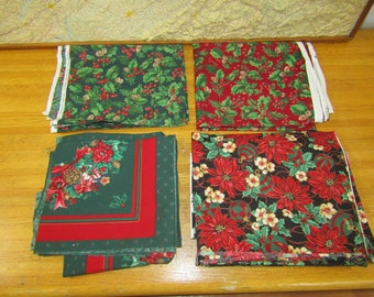 Lot of coordinated Christmas fabric approx 6 yards