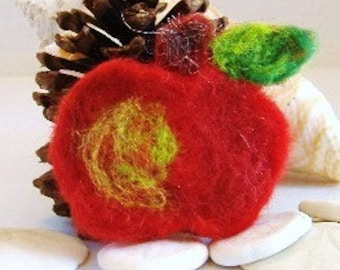 An Apple a Day Needle Felted Applique