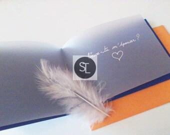 Veux-tu m'épouser ? / Will you marry me ? Blue Art Card