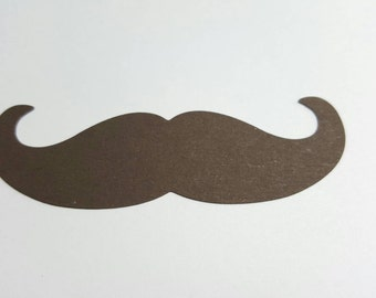 Mustache die cuts - Set of 24