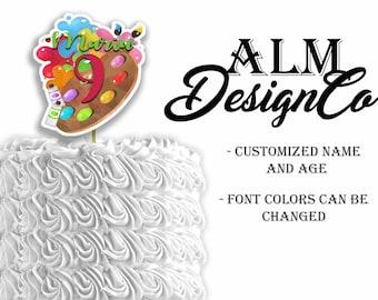 Art Cake Topper - Art DIGITAL cake topper - Art birthday decorations - Art birthday party - Art birthday party