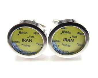 Iran Map Pendant Cufflinks