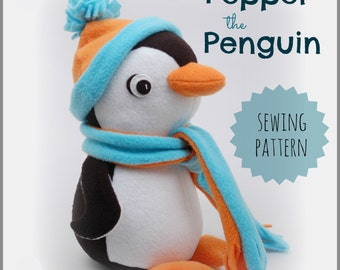 Pepper the Penguin PDF Sewing Pattern - Sew for Christmas or Winter Fun