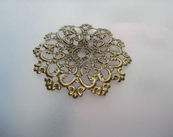47mm Antique Bronze Filigree Flower Wraps Connectors, Pack of 15 Connectors, Half the Price on Amazon!!, C535